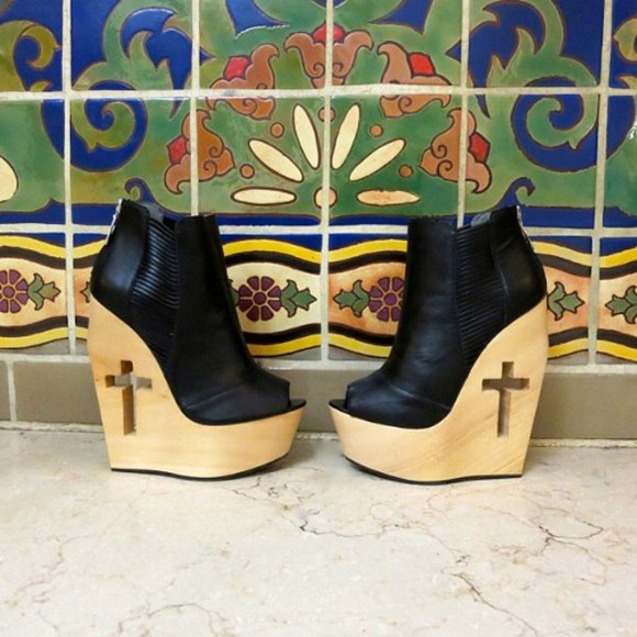 shoes boots platform shoes platform high heels wood cross