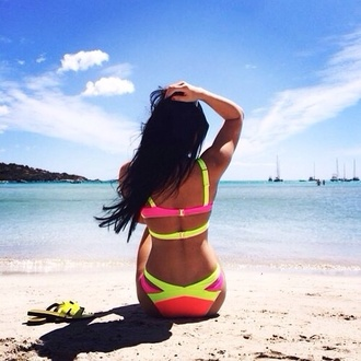 swimwear vibrant vibrant bikini yellow