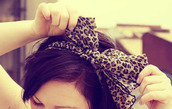 jewels,leopard print,animal print,hair bow,hair accessory,scarf,similar to the photo shown