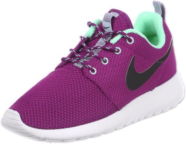 940b734e92d4 shoes nike nike roshe run roshe runs purple pink dark pink shoes nikes plum