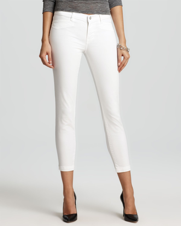 Brand Jeans - Harper Mid Rise Twill Capri in White   Bloomingdale&39s