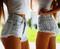 Dangers pale studded dreamer shorts