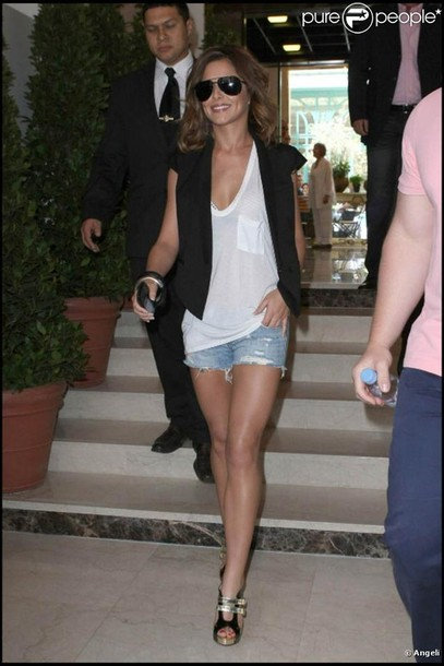 Cheryl Cole Shorts Blue Shorts Shirt Wheretoget