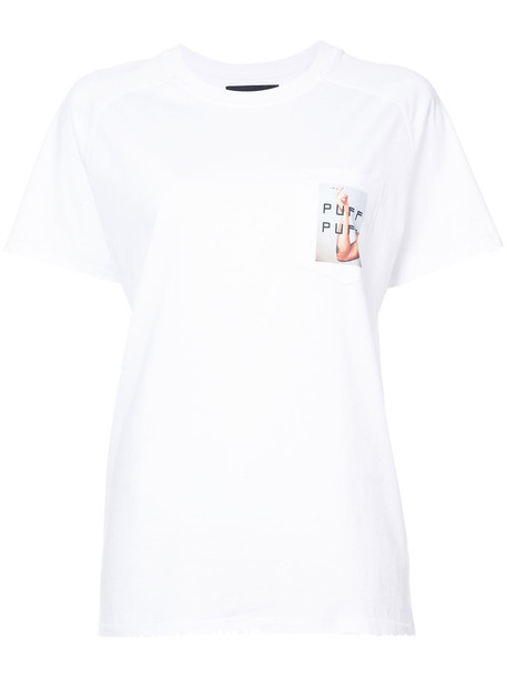 Baja East t-shirt shirt pocket t-shirt t-shirt women white cotton top