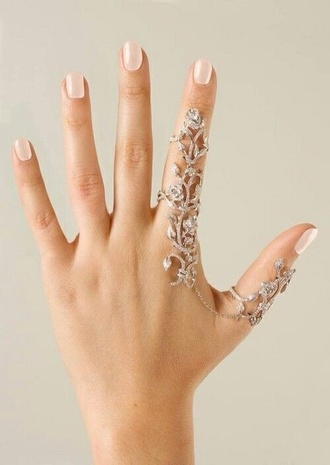 jewels ring nail polish armor ring hair accessory nail accessories coat blouse jeans double ring