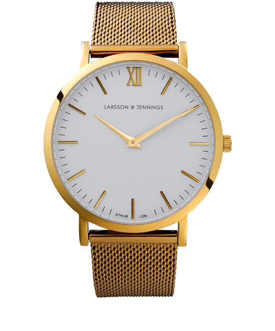 Larsson and Jennings Gold-Plated Chain Metal Watch | Men's Watches | Liberty.co.uk