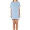 Designer resort mini dress - bea sky blue