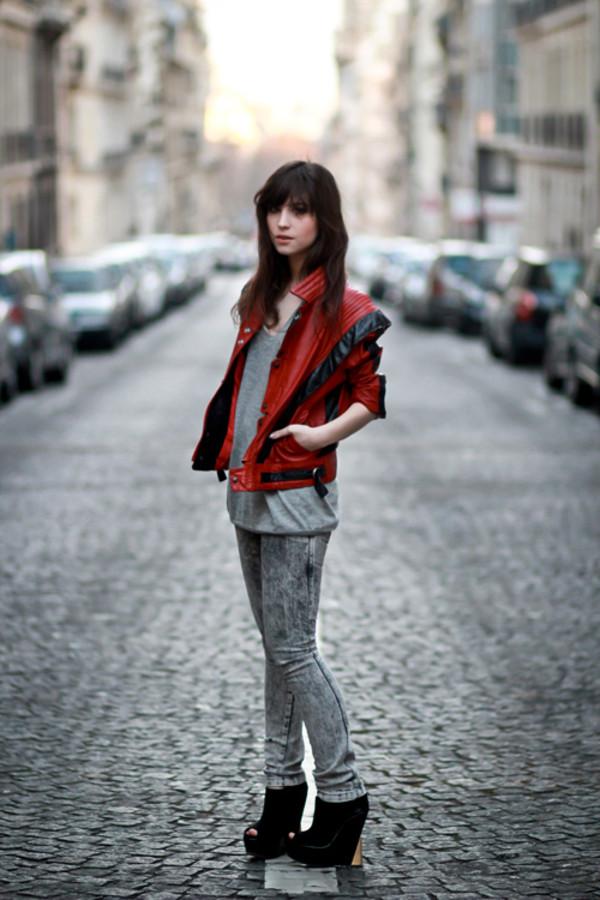 betty red jacket black jacket michael jackson jacket