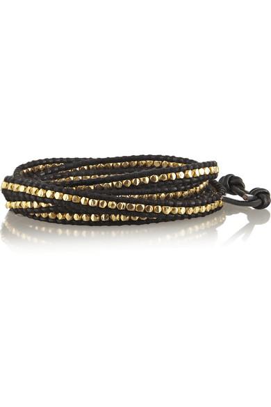 Chan Luu | Gold-plated leather wrap bracelet | NET-A-PORTER.COM