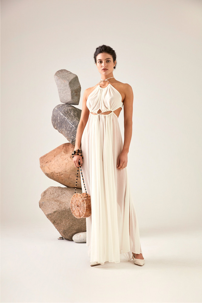 Cult Gaia Aphrodite Grecian Gown - Off White (PREORDER)                                                             $ 748.00 USD