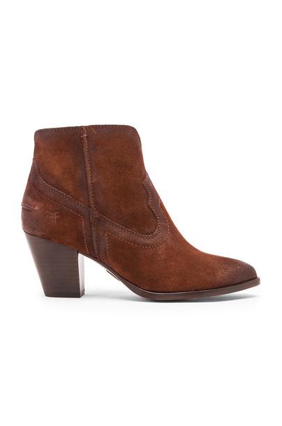 Frye Renee Seam Short Bootie in brown