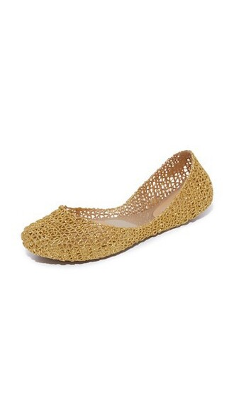 glitter flats gold shoes
