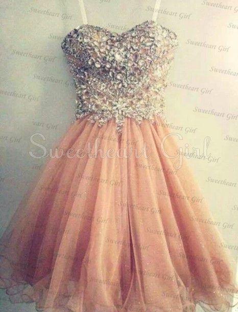 Amazing sweetheart rhinestone prom dress / homecoming dress
