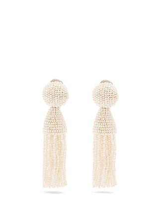 tassel embellished earrings jewels