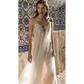 dress,trainers,spaghetti strap,wedding dresses beading,ivory dress,sweet
