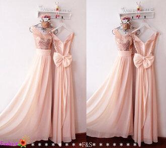 dress pink sequins