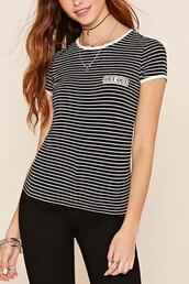 t-shirt,short sleeve,ootd,fahsion,striped top,striped t-shirt