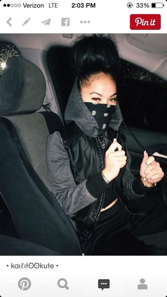 jacket leather jacket black jacket baddies bad bitches link up black girls killin it