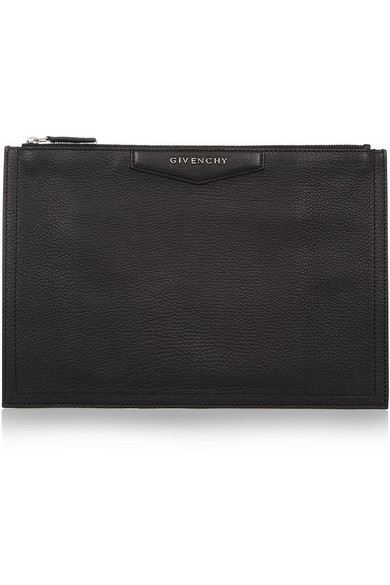 Givenchy | Medium Antigona pouch in black leather | NET-A-PORTER.COM