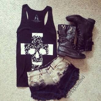 blouse black blouse calavera