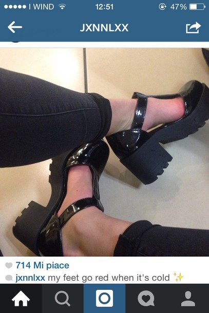 shoes black heels black boots chunky heels sandals tumblr outfit instagram chunky sole heels