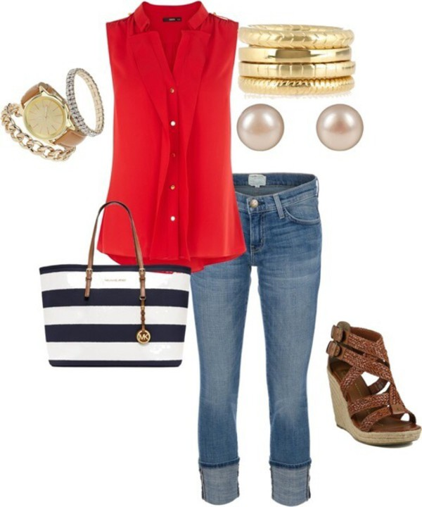 blouse romper jewels shoes