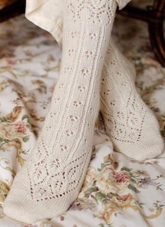 underwear socks knee high socks high socks overknee socks lace socks vintage ankle socks