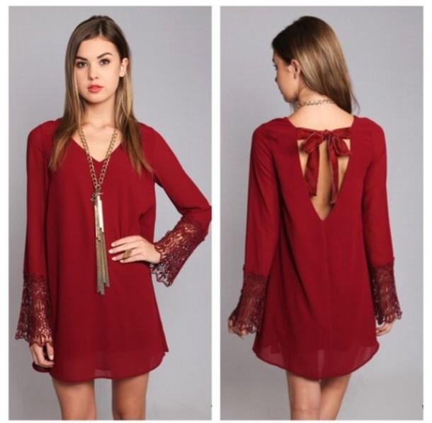 dress, red dress, christmas - Wheretoget