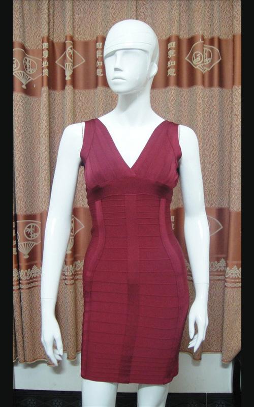 Discount Herve Leger Nadya V-neck Open Back Bandage Dress [Herve Leger Nadya Open Back Dress] - $150.00 :