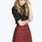 Alaina check woven a-line mini skirt