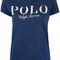 Logo print t-shirt - women - cotton - l, blue, cotton, polo ralph lauren