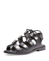 shoes,studded shoes,studded sandals,black sandals