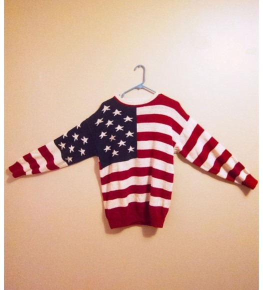 sweater usa flag