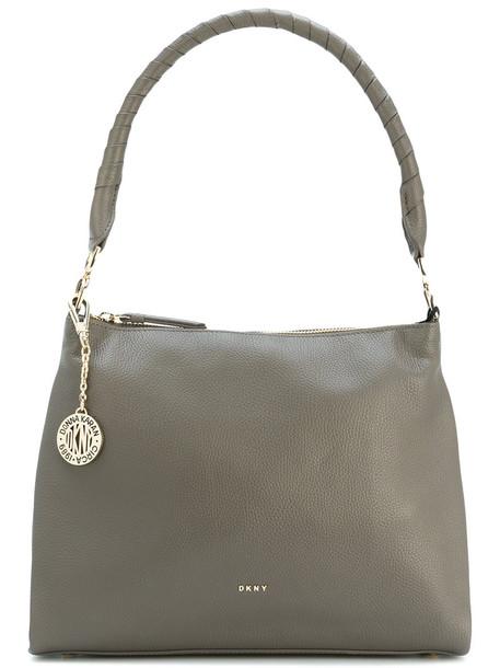 DKNY women bag shoulder bag leather grey