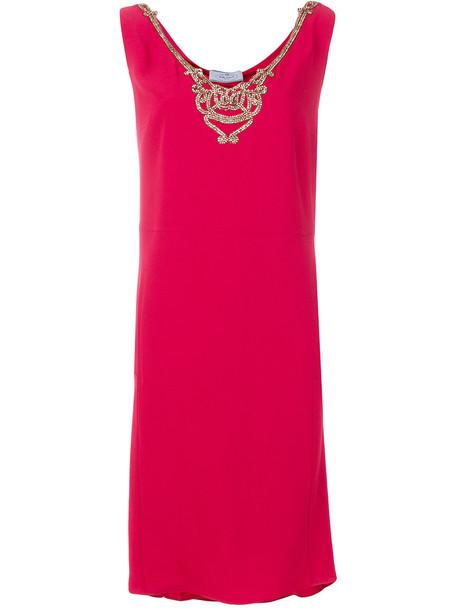 Prada dress sleeveless dress sleeveless metal women red