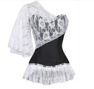 top lace corset