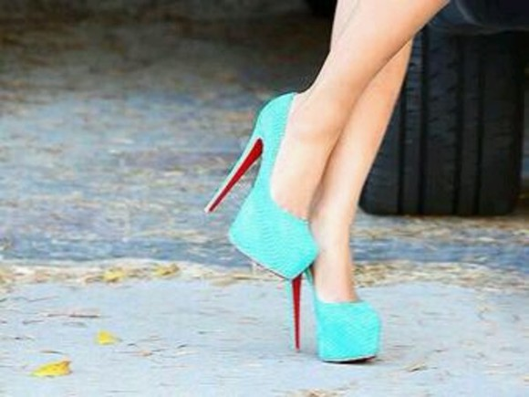 shoes christian louboutin tiffany blue prom