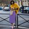 Purple printed midi skirt - style du monde   street style street fashion photos