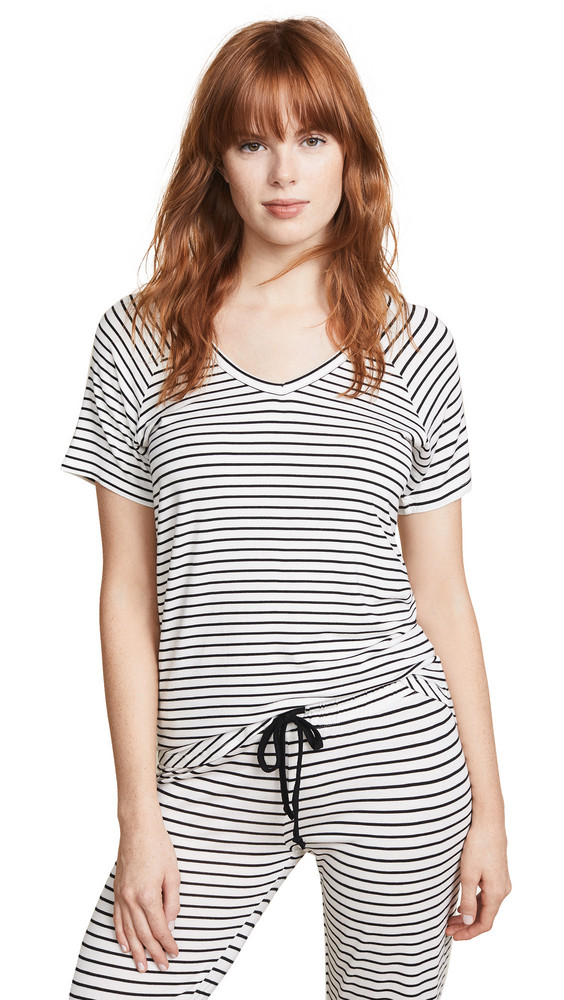 PJ Salvage V Neck Tee in ivory