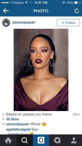 make-up lipstick rihanna lipstick rihanna red dress
