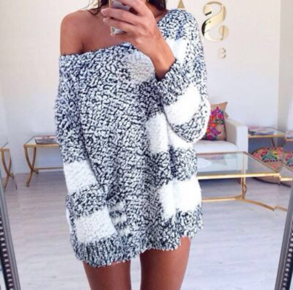 Sweater winter sweater winter outfits gris california selfie knitwear knitted sweater ...
