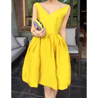 dress yellow girly fashion summer style spring rose wholesale-ap