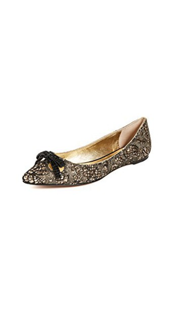 Marc Jacobs flats gold shoes