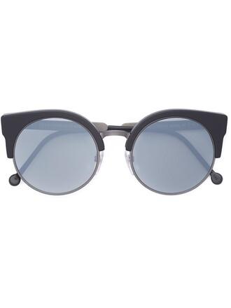 matte women sunglasses black grey
