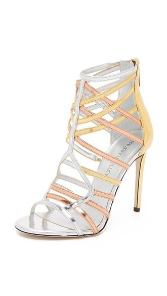 sandals gold silver copper shoes