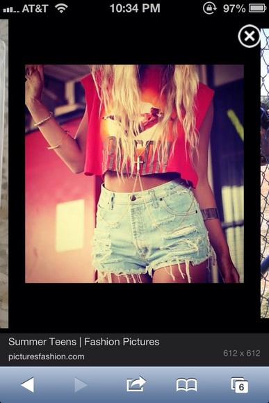 shorts high waisted shorts denim distressed cute hipster swag jewels shirt