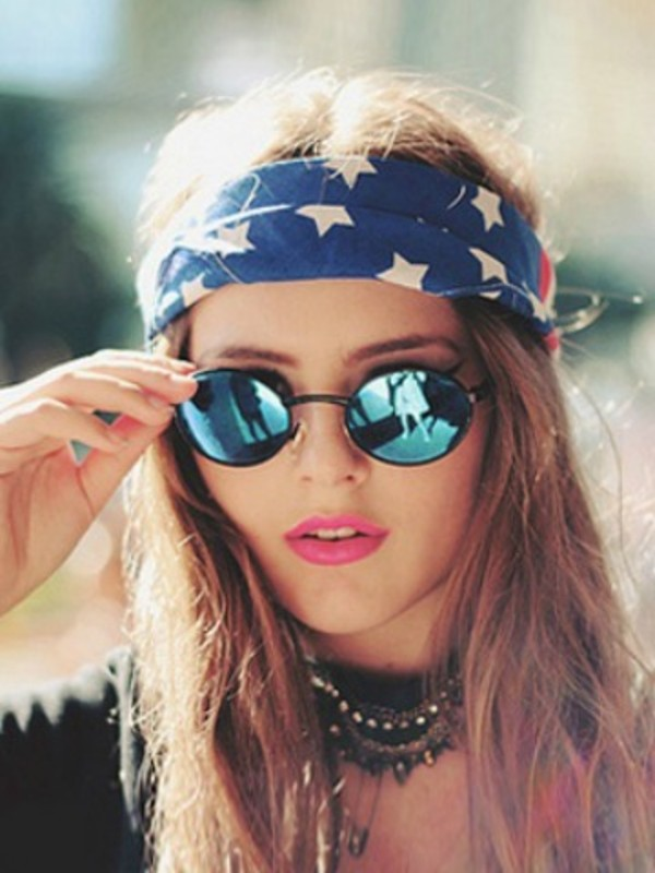 scarf sunglasses Accessory hair accessory jewels grunge grunge sunglasses glasses blue turquoise spring cool teenagers hipster rayban