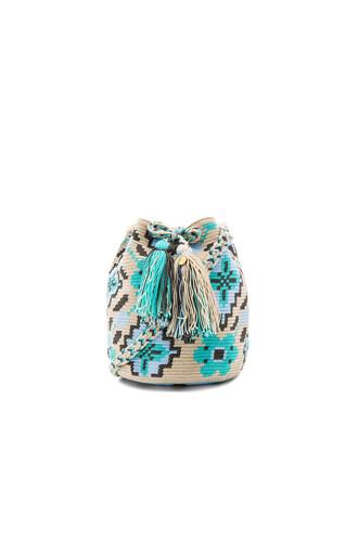 bag bucket bag turquoise