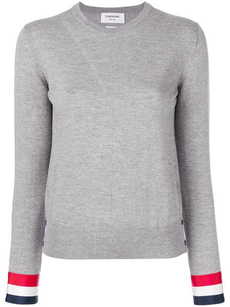 Thom Browne jumper women wool grey sweater