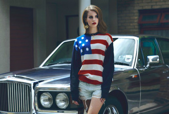 sweater american flag jumper lana del rey american flag jumper navy jumper red jumper